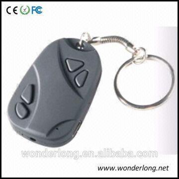 Hidden Keychain camera motion detection car key camera