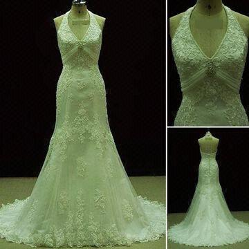 Green Lace Wedding Dress Material