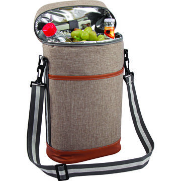China Insulated Wine Cooler Bag With Removable Shoulder Strap