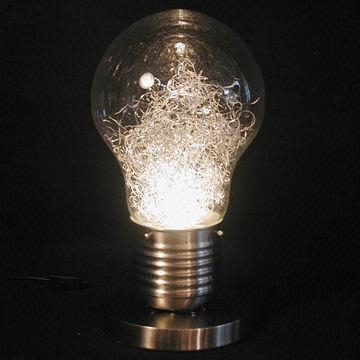 Bulb Table Lamp Measures 32x32x53cm, Big Bulb Table Lamp