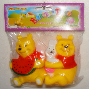 Baby Bath Toys Animals Swimming Water Toys Floating Rubber Squeeze Sound Toy JX