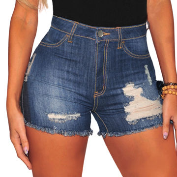 e1320d2576 China Stylish High Waist Sexy Destroyed Women Short Jeans on Global ...