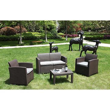 Outdoor plastic rattan sofa | Global Sources