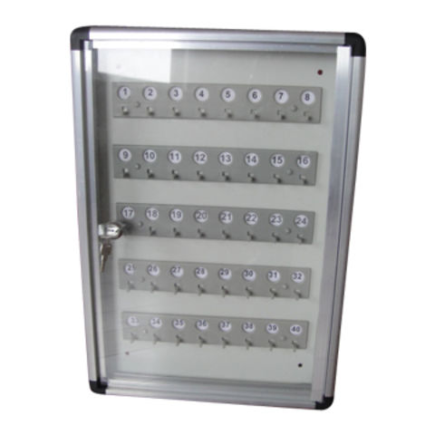 China Aluminum Key Box For 40 Keys With Frosted Glass Door