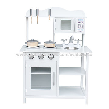 China New Cheapest Kids Pretend Play Wooden Toy Kitchen Set In