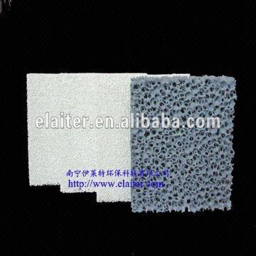 Silicon carbide foam ceramic filter for Copper, Iron casting