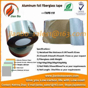 Aluminum foil fiberglass cloth insulation tape for roof