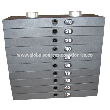 Sand Casting Iron Weight Stack, Made of Grey Cast Iron-ISO (grade