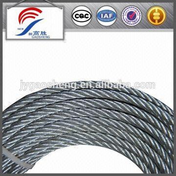 6x12 6mm galvanized steel wire rope 1. Application: Towing, mooring ...