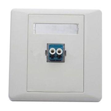 Fiber Optic Face Plates With Single Port Duplex Lc Fiber Optic Wall