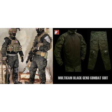 multicam black gen3 g3 combat suit shirt pants tactical swat airsoft