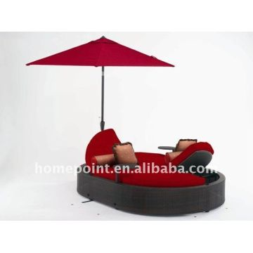 Sofa Bed Outdoor Rattan Chaise Lounge Sofa Bed With Storage And