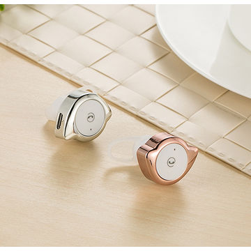 China Ultra Mini Wireless Invisible Bluetooth 4.1 In-ear Music Earphone Earbud Headset, Headphone with Mic