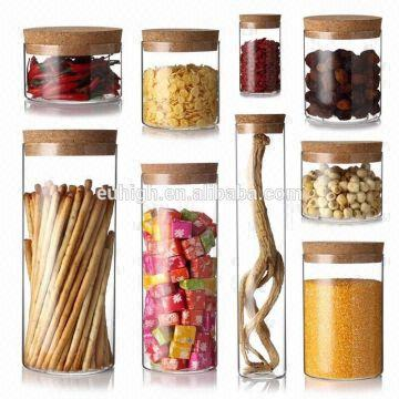 Borosilicate Glass Storage Jar Glass Jars With Wood Lid Glass Jar