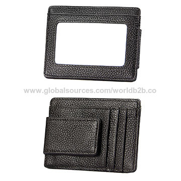 455a7bb42f6b6 Silm Magnetic Leather Money Clip Wallet China Silm Magnetic Leather Money  Clip Wallet