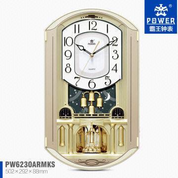 China Plastic Case Decorative Pendulum Antique Modern Whole Wall Clocks