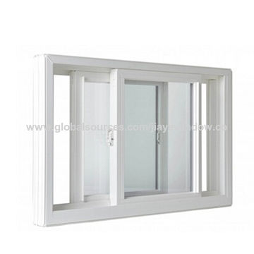 China Aluminium frame sliding glass window with mosquito net on ...