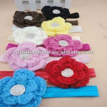 China Bling Crochet Flower Headbands Baby Headbands Toddler Headbands