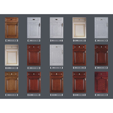 Vinyl wrap kitchen cabinet, MDF coated PVC door panel ...