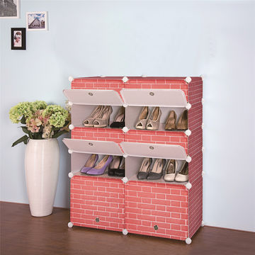 2016 modern design modular cube storage system living room shoe rack ...