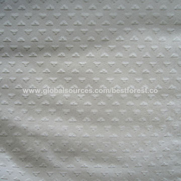 China Embossed Flocking Fabric From