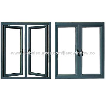 China ventana de aluminio de cristal moderada doble del marco de ...