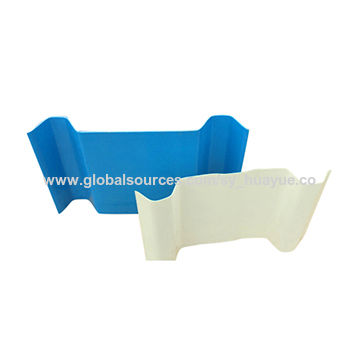 Long working life flexible transparent FRP sheet, used for