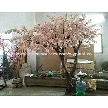 China 3 Meter Good Quality Milk White Artificial Cherry Blossom