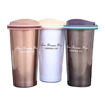 China 500ml Double Wall Stainless Steel Coffee Tumbler From Jinhua