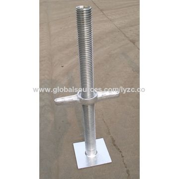 China Solid Type Steel Scaffoldings Screw Jack Base