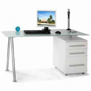 tempered glass office desk. China Office Desk With Cabinet, 8mm Tempered Glass, Measures 1,500 X 800 730mm Glass R