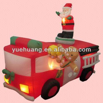 Fire Truck Inflatable Christmas Decorations  from p.globalsources.com