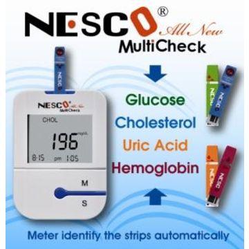 Blood Glucose Cholesterol Uric Acid Hemoglobin Meter