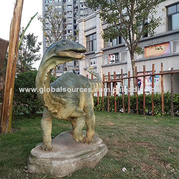 Garden Sculpture Fiberglass Dinosaur Decoration For Mini Golf