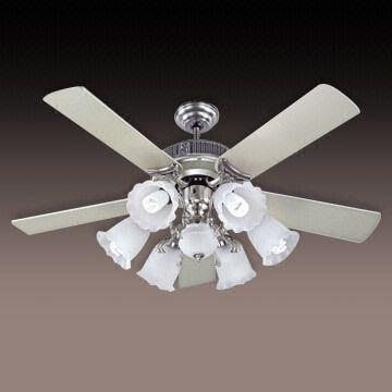 Taiwan ceiling fan lights with six lights kit and frosted glass