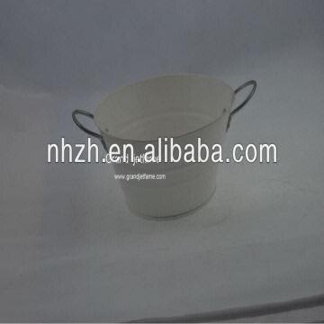 China Garden Handle White Iron Whole Nursery Pots