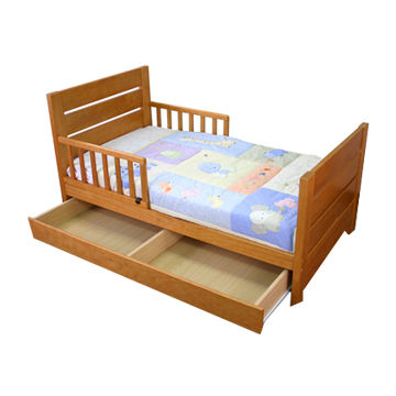 pine wood baby toddler bed with drawer any color is available rh globalsources com wood toddler bed with storage wood toddler bed house