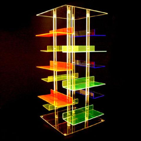 Taiwan 4 Color Acrylic Shoe Shelf Display Rack Designed To