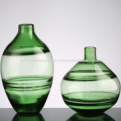 home goods decorative vases.htm china hand blown green art glass vases  unique ripple design  china hand blown green art glass vases