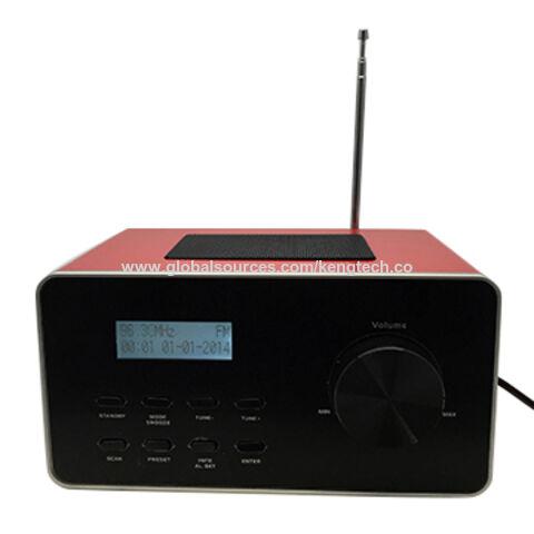 Hong Kong SAR Wooden Bluetooth PLL Dual Alarm Radio LCD Display AM