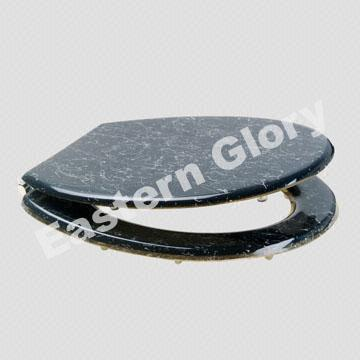 China Toilet Seat with Marble Black Design