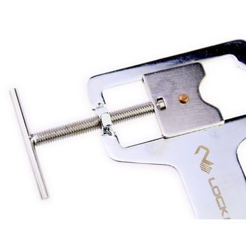 Lock Vice Locksmith Practice Stand Tool Clip, Euro Cylinder Rim Training Fix
