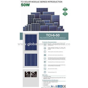China 50w polycrystalline solar panels solar modules poly solar cell battery
