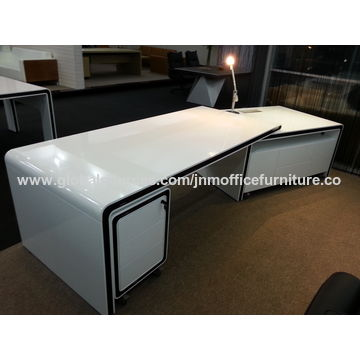 China Executive table modern design with veneer finishing for CEO office
