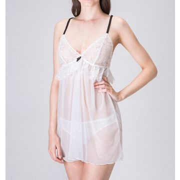 Hong Kong SAR Babydolls made of lace, available size S, M, L, XL, accept customized