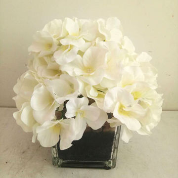 China 7 artificial hydrangea flowers from shenzhen wholesaler china 7 artificial flowers hydrangea arrangement in cuboid glass pot homeoffice wedding party mightylinksfo