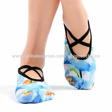 China Best Non slip Printting Yoga socks for barre and pilates ...