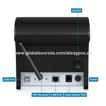 China Triple interface RS232 Serial-USB& Ethernet POS receipt printer 80mm