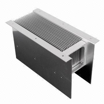 Bonded Fin Heatsink, Made of Simplexed Aluminum, Copper or