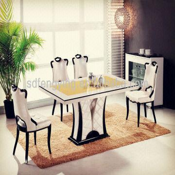 High Quality China T 1303 Italian Dining Room Tables/ Comtemporary Modern Cheap Marble  Dining Tables Set